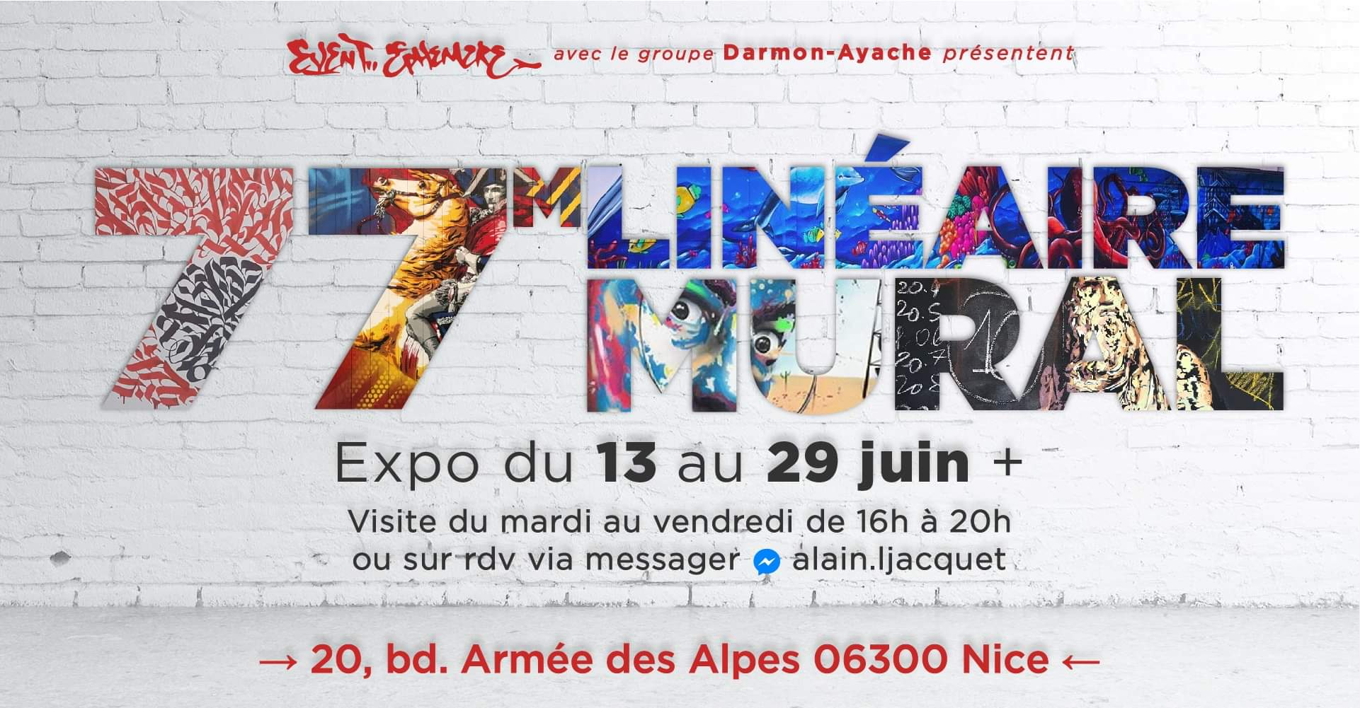 77m2 Linéaire Mural 2019